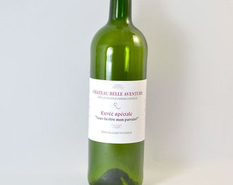 Label bottle of wine sponsor - want you be my sponsor?