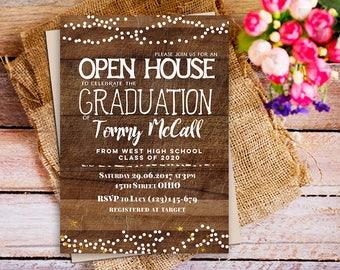 College grad invite etsy for Graduation open house invitation