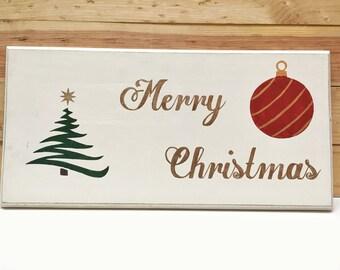 Merry Christmas Sign, Christmas Sign, Christmas Decor, Wood Sign, Christmas Decorations, Wooden Sign, Christmas, Holiday Sign