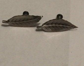 1 pair Sterling Silver Screwback Earrings