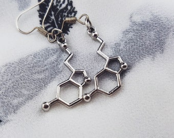Serotonin Molecule Earrings