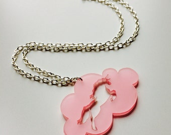 Sale | Unicorn | Horse | Equestrian | My Little Pony | Pink | Laser Cut | Acrylic | Necklace