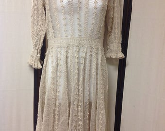 Vintage crocheted dress size small Lim's
