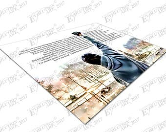 Print on Canvas Rocky Balboa boxing quote Let me tell you something X1615