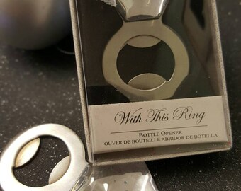 Bottle Opener - Diamond Ring - Hen Party - Favour - bridal shower favour - Bachelorette party - engagement party - Bride to be