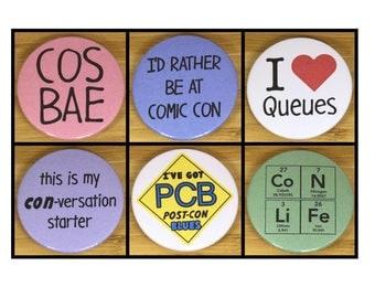 Convention badge set - cosplay, comic con, conlife