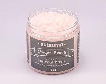 Ginger Peach Mineral Bath (16 oz) - Ginger Peach Bath Salts - Classic Collection