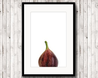 Fig Poster, Watercolor Fig Print, Fig Illustration, Kitchen Art Print, Fig Drawing, Fig Painting, Fruit Print, Fig Prints, Fig Printable