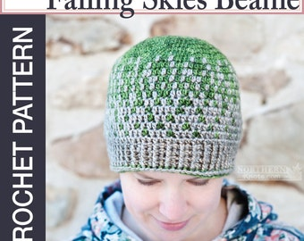 Crochet Hat Pattern for Falling Skies Beanie Pattern