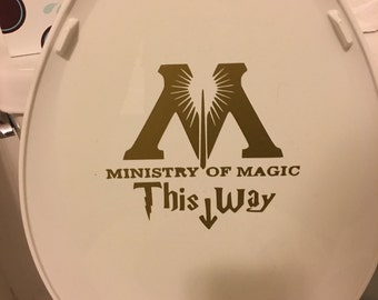 Harry Potter Ministry of magic - this way decal sticker vinyl