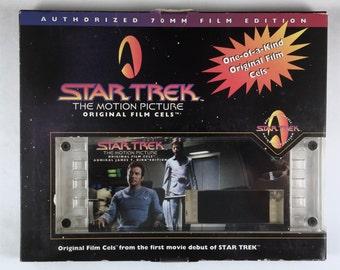 Star Trek Film Cel, Admiral James T Kirk Edition, Vintage 70 MM Film Cell, Original Box, Numbered 01111, One of a Kind Gift