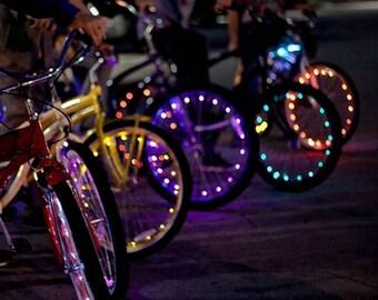 2X Bike Spoke Wheel Led Fairy Lights Burning Man Special!!