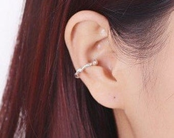 Surround ear cuff - Silver color- Unique design - wedding Jewelry - E052