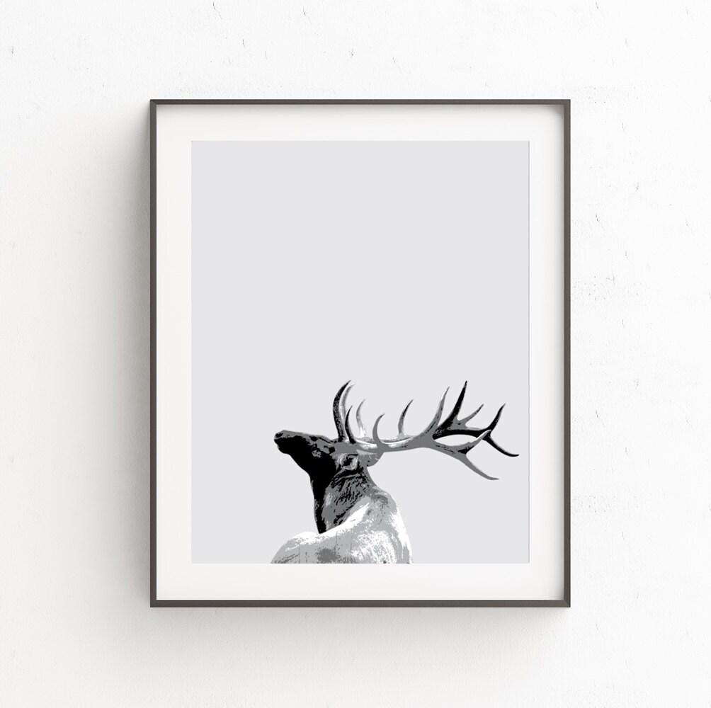 Stag Head Wall Decor Nursery Print Deer Decor Stag Head
