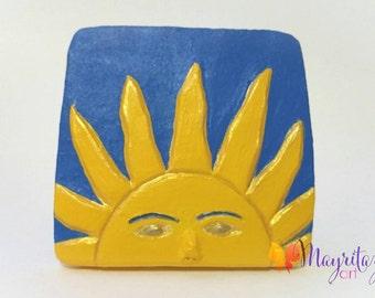 Small Relief Ceramic Tile; Pequeño Cuadro en Ceramica al Relieve