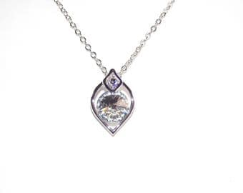 Oval Necklace Made with Swiss Crystals FREE SHIPPING!