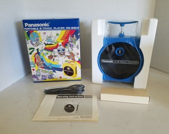Panasonic Portable 8 Track Player from 1974 RQ 830S Brand New Original Box Blue Color