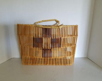Vintage Bamboo Purse from the 70's Brand New
