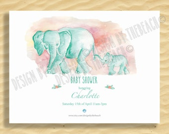 BabyShower Invitation customized printable