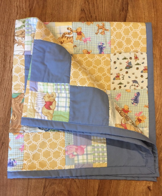 Winnie The Pooh Quilt Boy Or Girl Blanket Baby Shower Gift