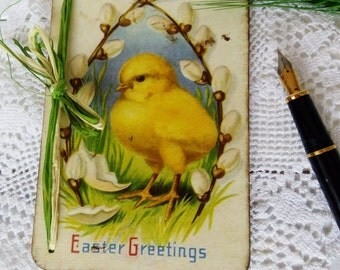 Easter gift Easter wooden card Vintage style card Victorian Easter card Gift for mom Gift for grandmother Gift Idea easter Easter decor