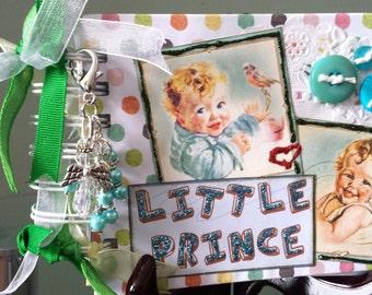 Baby Boy Mini Album, Baby Scrapbook, Photo Album, Chipboard Mini Album, Baby Mini Album, Baby Brag Book, New Baby, New Mom, Baby Shower