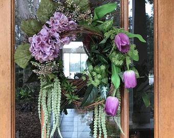 Shades of Spring Wreath