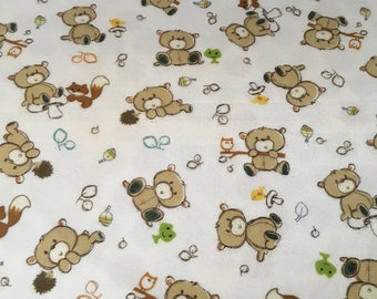 Rustic Bear Flannel Baby/Toddler Blanket