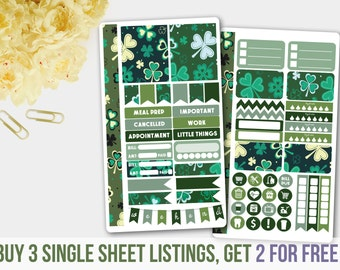 Green Clover Personal Size Kit, Green Stickers
