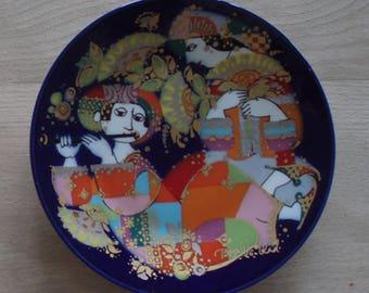 Porcelain platter orientalische nachtmusik – Bjørn Wiinblad