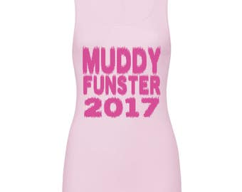 Muddy Funster Vest Female Ladies Cancer Research Race for Life 2017 Pretty Muddy
