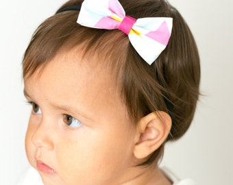 """Bow hair band all sizes """"triangles"""""""