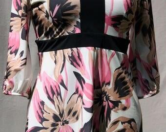 Tropical pink printed tunic