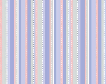 END OF BOLT 31 inches - Purple Stripe Fabric - Princess Dreams - Stripe Fabric - Riley Blake Designs - Sold by Half Yard
