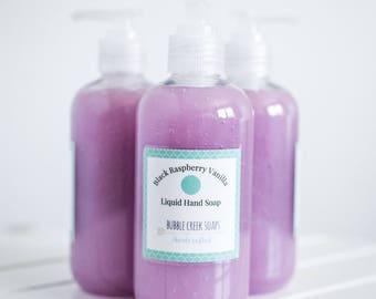 Black Raspberry Vanilla Liquid Hand Soap/ Liquid Soap/ Body Wash