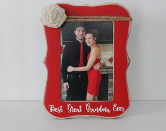 best great grandma ever picture frame great grandma frame rustic picture frame