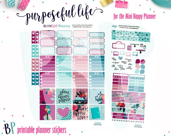 Agile image in free mini happy planner printable inserts