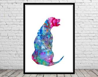 Rhodesian Ridgeback, animal print, watercolor Rhodesian Ridgeback, animal art, dog, Kids Room Decor, Poster, wall art, print(3254b)