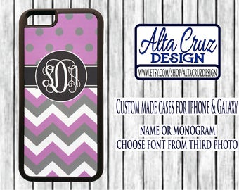 Personalized Monogrammed cell phone case, iPhone or Galaxy, name or monogram #135