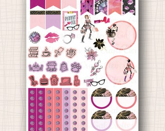 Decorative and Functional Planner Stickers | Haute to Trot Doo Dads | 45 Stickers Total | #SP1907