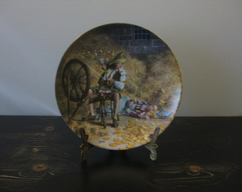 """Bradford Exchange Plate, """"Rumpelstilzchen"""" by Charles Gehm / Grimm's Fairy Tales Plate Collection / Brothers Grimm Plate Series"""