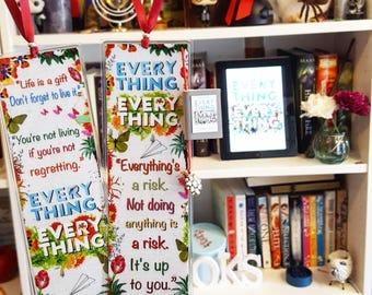 Everything everything bookmark - Handmade
