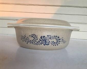 Homestead Blue Pyrex Casserole Dish 043