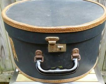 Vintage Blue Hat Box/Luggage by John Jackson Co/Melbourne