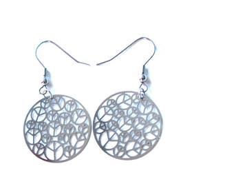 Peace - Fun Earrings - Stainless Steel - Hypoallergenic earrings