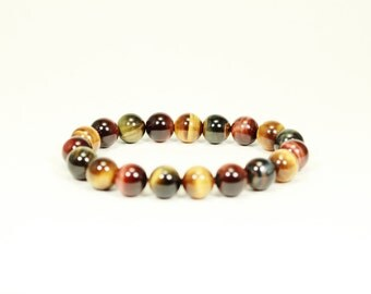 Tiger Eye Bracelet - 100% Authentic Crystals From Africa - Natural Gemstones - Semi precious stones - Gorgeous Mineral
