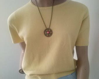 90s Katies s/s soft acrylic top size 12