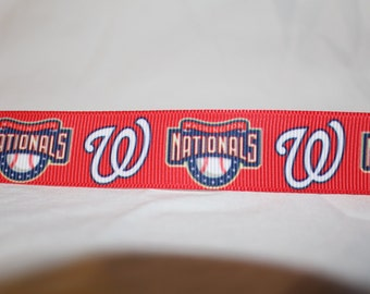 "Washington Nationals Dog Collar - Side Release Buckle (1"" Width) - Martingale Available"