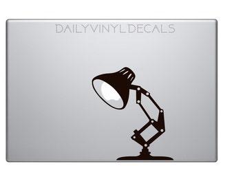 Desk Lamp Decal - Vintage Style Desk Lamp Vinyl Sticker - Mac Apple Logo Cover Laptop Macbook Decal etc. - Pixar Lamp Disney