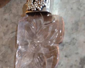Rose Quartz Carved Pendant Necklace